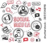 social media or internet themed ... | Shutterstock . vector #385554898
