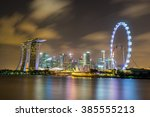 landscape of the singapore... | Shutterstock . vector #385555213
