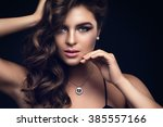 woman with beautiful make up | Shutterstock . vector #385557166
