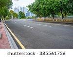 empty road scene   Shutterstock . vector #385561726
