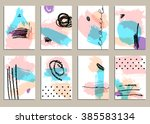 set of universal cards. hand... | Shutterstock .eps vector #385583134