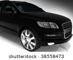 Black auto - stock photo