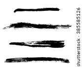 grunge brush stroke . vector... | Shutterstock .eps vector #385585126