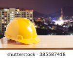 safety helmet with construction ... | Shutterstock . vector #385587418