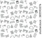 seamless pattern of furniture.... | Shutterstock .eps vector #385593376