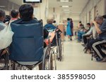 patient elderly on wheelchair... | Shutterstock . vector #385598050