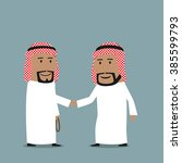 friendly cartoon arab... | Shutterstock .eps vector #385599793