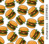 fast food seamless pattern of... | Shutterstock .eps vector #385599814