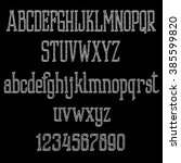 retro chalk alphabet font on a...   Shutterstock .eps vector #385599820