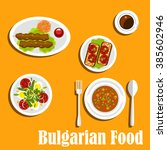 bulgarian cuisine  nutritious... | Shutterstock .eps vector #385602946