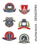 college  university  school and ... | Shutterstock .eps vector #385603984