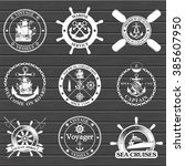 set of vintage nautical labels  ... | Shutterstock .eps vector #385607950