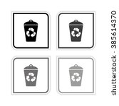 recycling    grayscale vector... | Shutterstock .eps vector #385614370