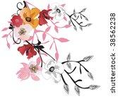 illustration of a floral... | Shutterstock .eps vector #38562238