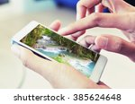 smart phone searching summer...   Shutterstock . vector #385624648