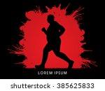 fat man running designed on... | Shutterstock .eps vector #385625833