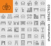 furniture icons  | Shutterstock .eps vector #385627810