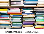 Books on a regiment - stock photo
