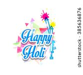 happy holi | Shutterstock .eps vector #385636876