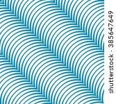 stripy diagonal blue curved  ... | Shutterstock .eps vector #385647649
