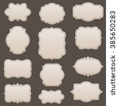 vector decorative frames set ... | Shutterstock .eps vector #385650283