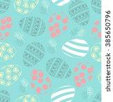 easter seamless pattern  ... | Shutterstock .eps vector #385650796