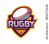 rugby logo  american logo sport | Shutterstock .eps vector #385672648