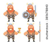 viking in different versions | Shutterstock .eps vector #385678840