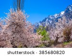 beautiful landscape of hunza... | Shutterstock . vector #385680820