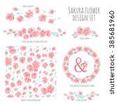 set of vector design elements ... | Shutterstock .eps vector #385681960