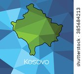a map of the country of kosovo | Shutterstock .eps vector #385684213