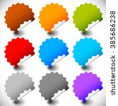 blank peeling sticker set with... | Shutterstock . vector #385686238