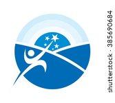 reach star logo vector. success ...   Shutterstock .eps vector #385690684
