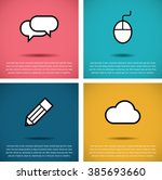 simple poster template with icon