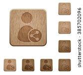 set of carved wooden share user ...