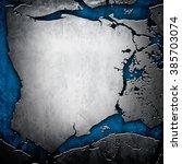 cracked metal plate   Shutterstock . vector #385703074