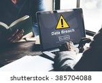 Small photo of Data Breach Unsecured Warning Sign Concept
