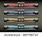 sport scoreboard design...   Shutterstock .eps vector #385708714