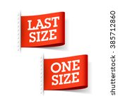 last size and one size clothing ... | Shutterstock .eps vector #385712860
