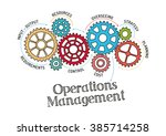 gears and operations management ... | Shutterstock .eps vector #385714258