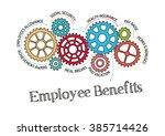 gears and employee benefits... | Shutterstock .eps vector #385714426