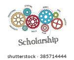 gears and scholarship mechanism | Shutterstock .eps vector #385714444
