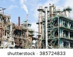 chemical plant | Shutterstock . vector #385724833