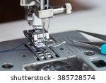 metal sewing machine | Shutterstock . vector #385728574