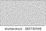 labyrinth of high complexity | Shutterstock .eps vector #385730548