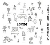living room. lounge  relaxing...   Shutterstock .eps vector #385733518