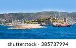 view of bodrum on turkish... | Shutterstock . vector #385737994