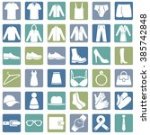 vector set of wear icons | Shutterstock .eps vector #385742848