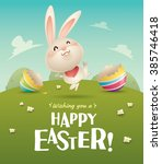 Happy Easter  Easter Bunny And...