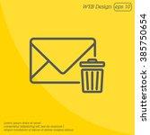 web line icon. delete message | Shutterstock .eps vector #385750654
